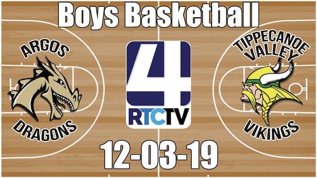 Argos Boys Basketball vs Tippecanoe Valley 12-3-19