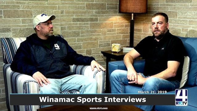 RTCtv4 Sports Interviews - Winamac coaches 3-18-19