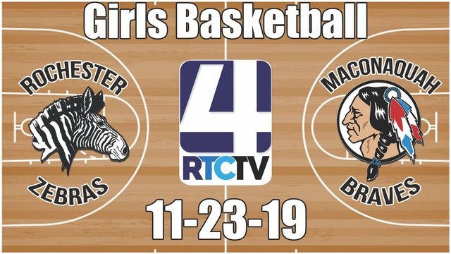 Rochester Girls Basketball at Maconaquah 11-23-19