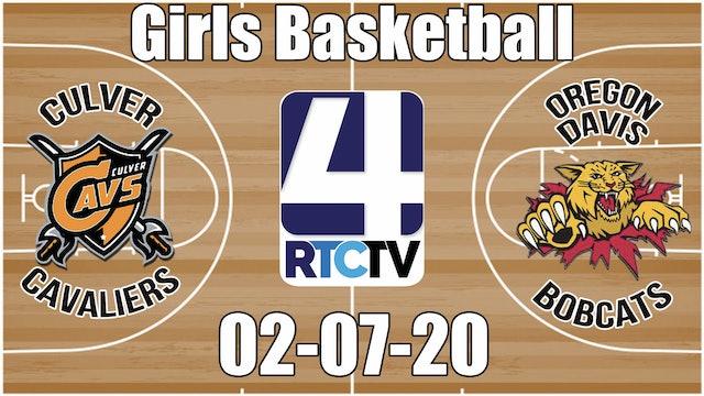 IHSAA Girls Basketball Sectional #50 Culver(H) vs Oregon Davis(V) 2-7-20