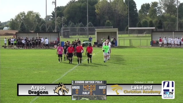 Argos Boys Soccer vs Lakeland - 10-01-18
