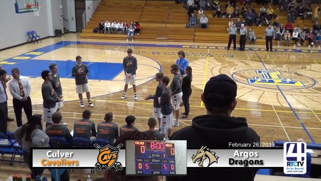 Culver Boys Basketball vs Argos - 2-2...