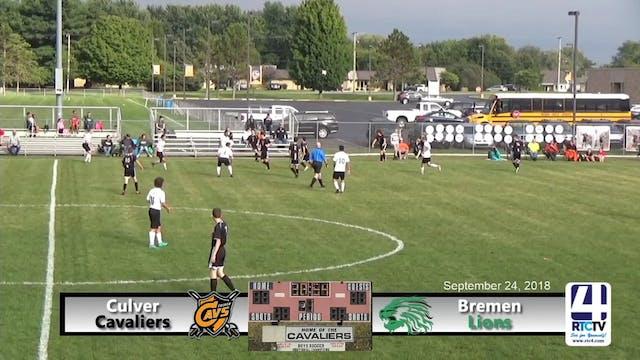 Culver Soccer vs Bremen - 09-24-18