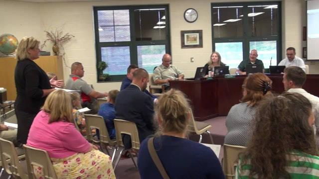 Tippecanoe Valley School Board Meeting - 8-19-19