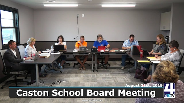 Caston School Board Meeting 8-21-19