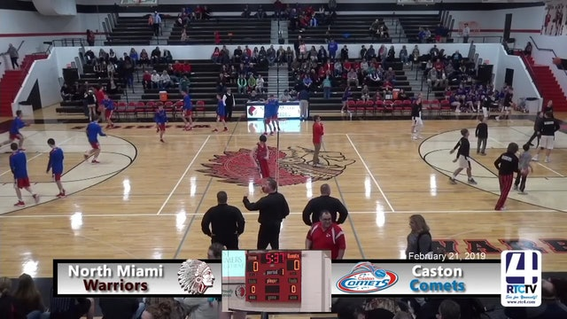North Miami Boys Basketball vs Caston - 2-21-19