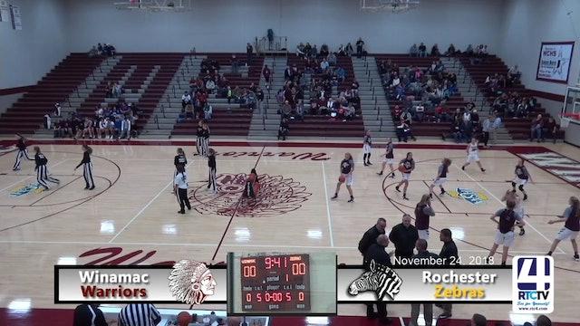 Winamac Girls Basketball vs Rochester - 11-24-18