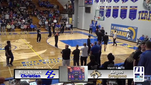 Argos Boys Basketball vs Fort Wayne Blackhawks - 3-9-19