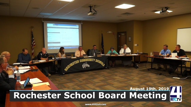 Rochester School Board Meeting 8-19-19