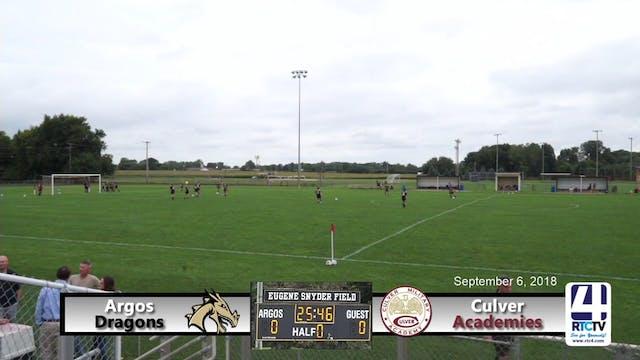 Argos Girls Soccer vs Culver - 09-06-18
