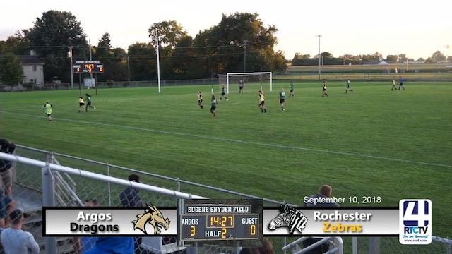Argos Girls Soccer vs Rochester - 09-10-18