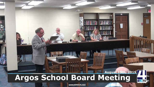 Argos School Board Meeting 8-19-19