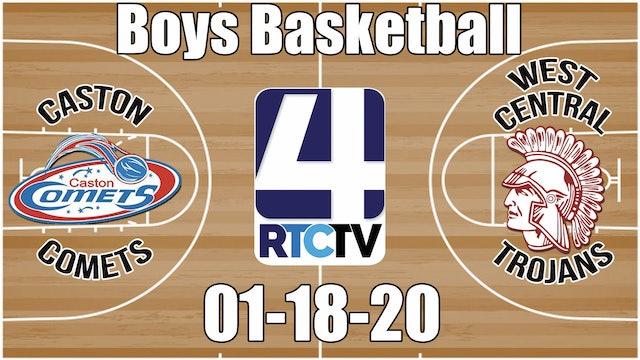 Caston Boys Basketball vs West Central 1-18-20