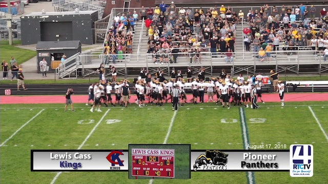 Pioneer Football at Lewis Cass - 08-17-18