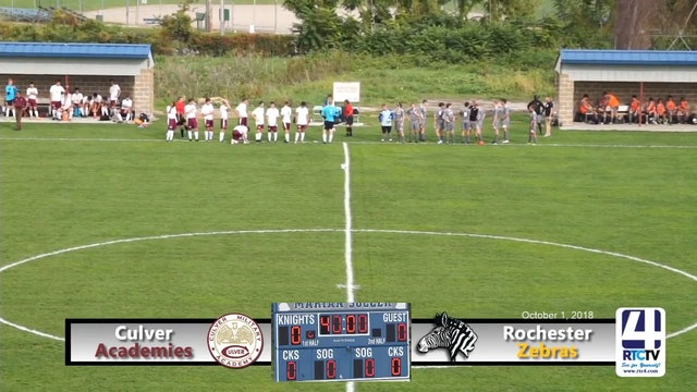Rochester Boys Soccer vs Culver Academy - 10-01-18