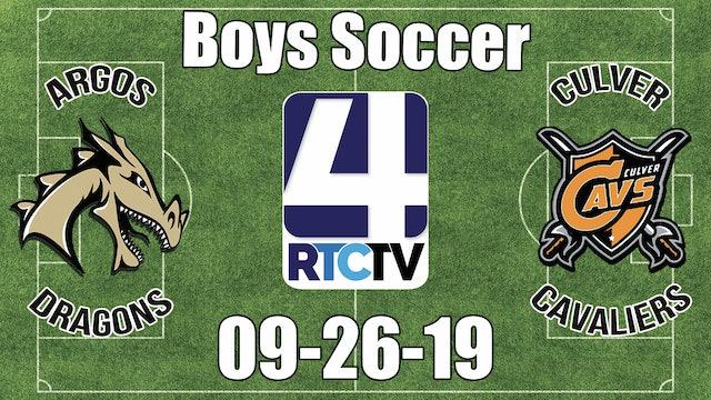 Argos Soccer vs Culver 9-26-19