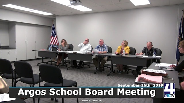 Argos School Board Meeting 9-16-19