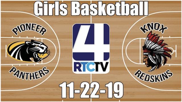Pioneer Girls Basketball vs Knox 11-22-19