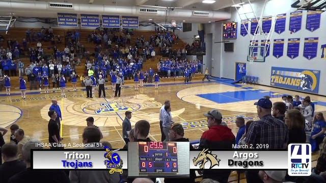 Argos Boys Basketball @ Triton - 3-2-19