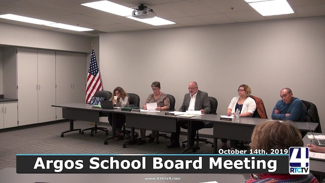 Argos School Board Meeting 10-14-19