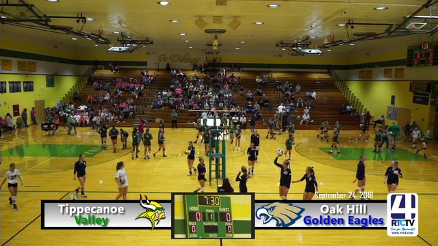 Tippecanoe Valley Volleyball vs Oak Hill - 09-24-18