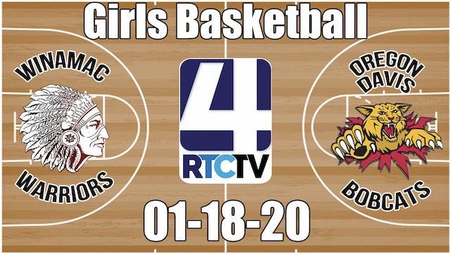 Winamac Girls Basketball vs Oregon Davis 1-18-20