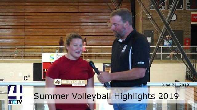 RTCtv4 Sports Interviews - Summer Volleyball  7-2-2019