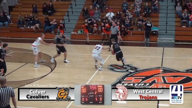 Culver Boys Basketball vs West Central - 11-24-18