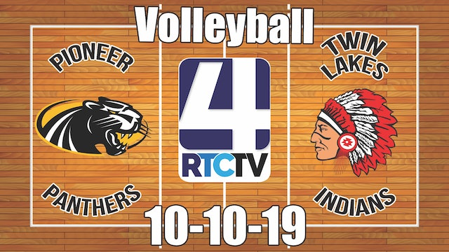 Pioneer Volleyball vs Twin Lakes 10-10-19