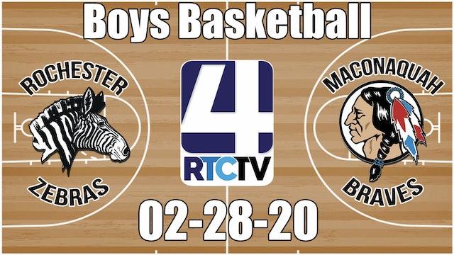 Rochester Boys Basketball vs Maconaquah 2-28-20