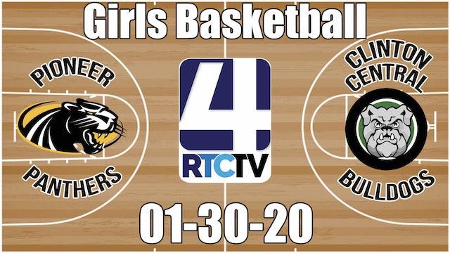 Pioneer Girls Basketball vs Clinton Central 1-30-20
