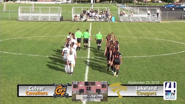 Culver Soccer vs Lakeland - 09-25-18