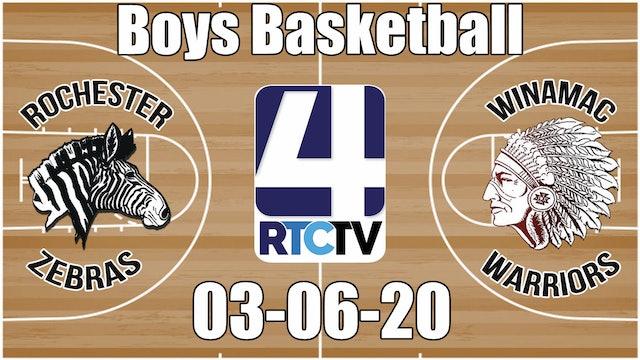 IHSAA Boys Basketball Sectional #37 Rochester vs Winamac 3-6-20
