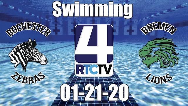 Rochester Co-Ed Swimming vs Bremen (Senior Night) 1-21-20