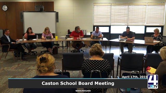 Caston School Board Meeting - 7-24-19