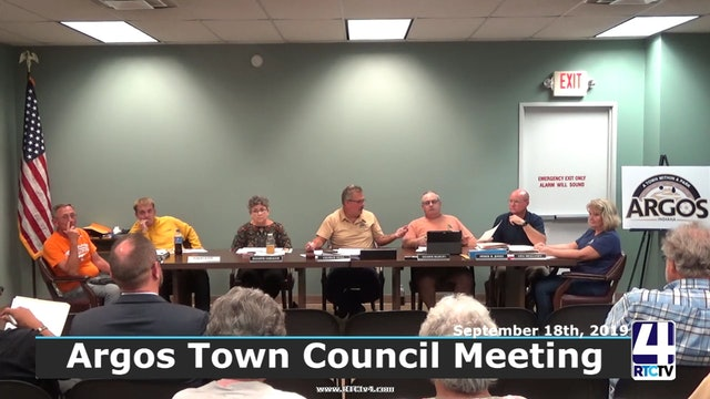 Argos Town Council Meeting 9-18-19