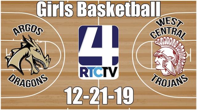 Argos Girls Basketball vs West Central 12-21-19