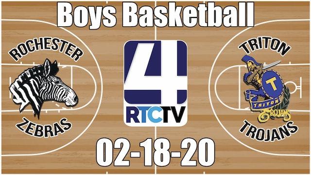 Rochester Boys Basketball at Triton 2-18-20
