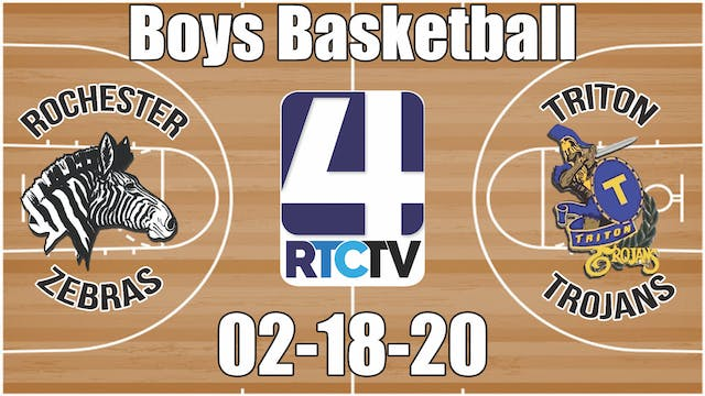Rochester Boys Basketball at Triton 2...