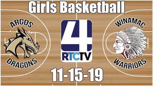 Argos Girls Basketball vs Winamac 11-15-19