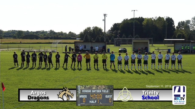Argos Boys Soccer vs Trinity - 09-11-18