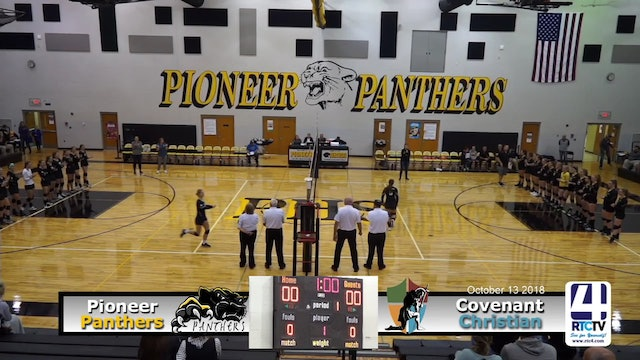 Pioneer Volleyball vs Covenant Christian - 10-13-18