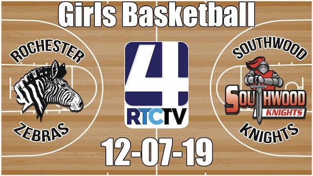 Rochester Girls Basketball vs Southwood 12-7-19