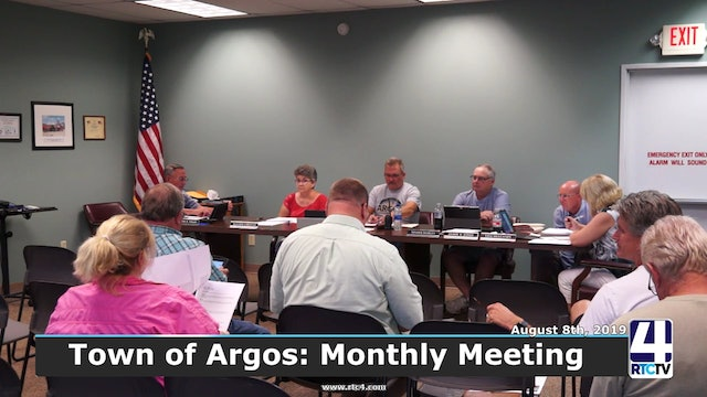 Argos Town Council Meeting - 8-7-19