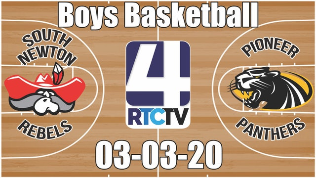 IHSAA Boys Basketball Sectional #52 Pioneer vs South Newton 3-3-20