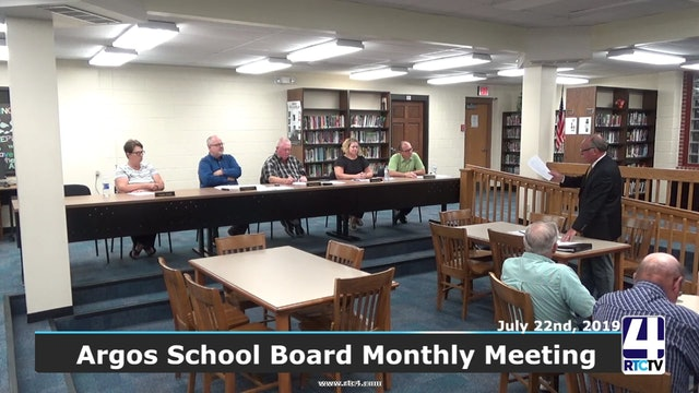 Argos School Board Meeting - 7-22-19