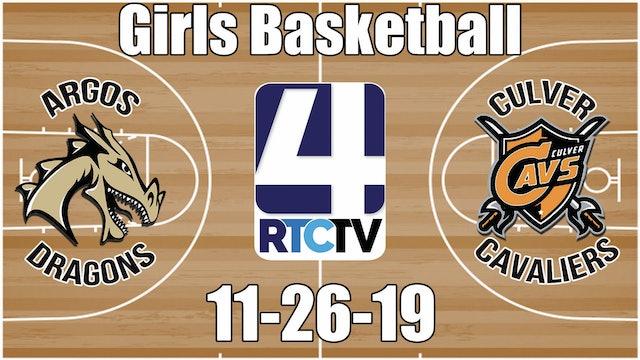 Argos Girls Basketball vs Culver 11-26-19