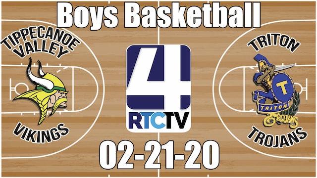Tippecanoe Valley Boys Basketball vs Triton 2-21-20