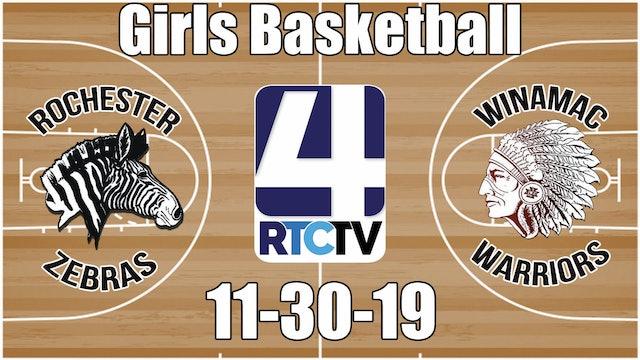 Rochester Girls Basketball vs Winamac 11-30-19
