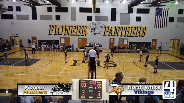 Pioneer Volleyball vs North White - 10-11-18